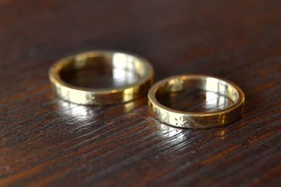 和彫りのK18結婚指輪_f0155891_13391903.jpg