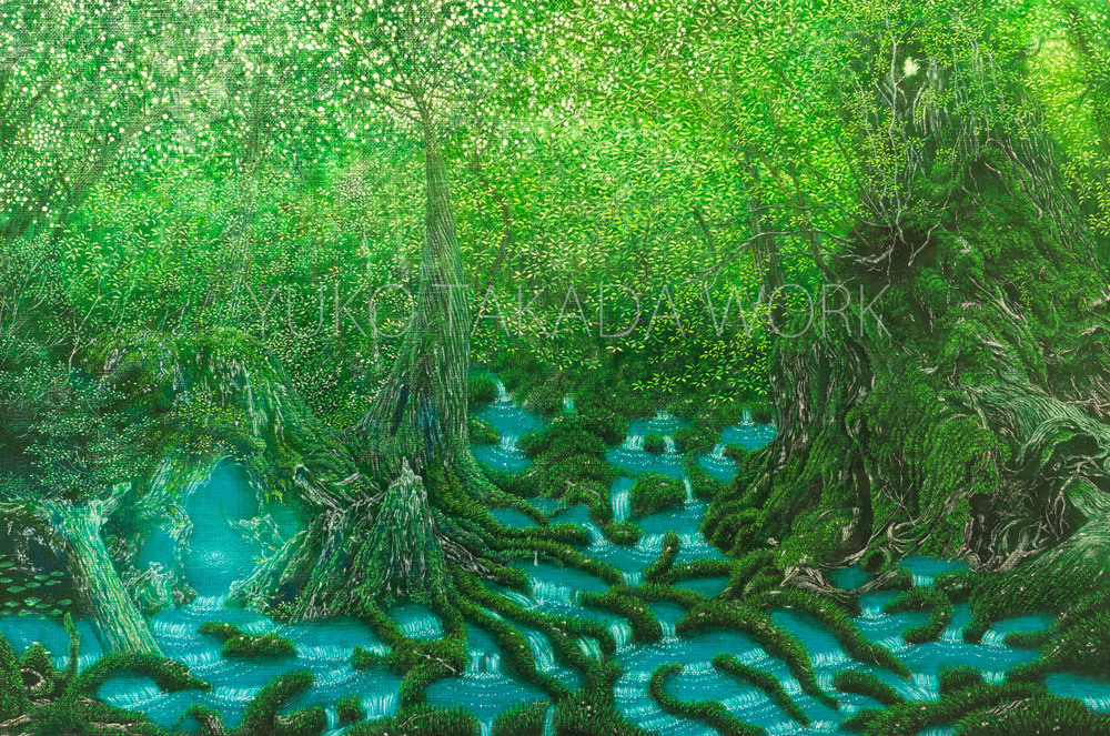 絵本「水の森」のラフの続き、完成しました!_b0240382_20593909.jpg