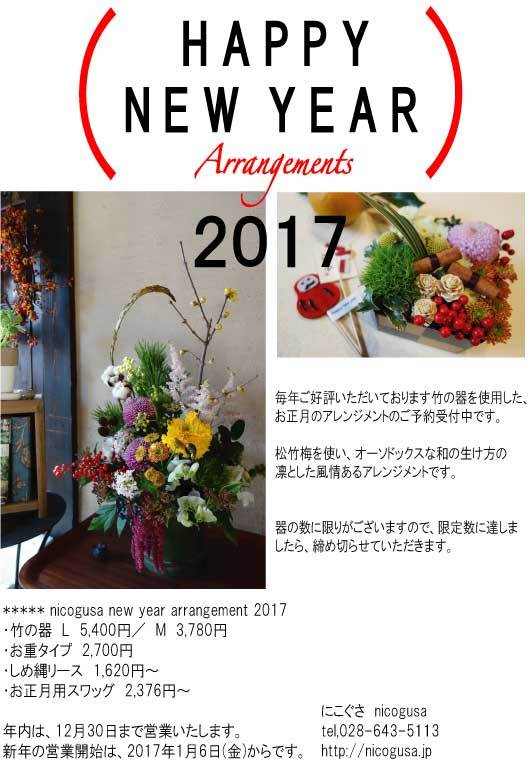 nicogusa new year arrangements 2017_c0069389_17255698.jpg