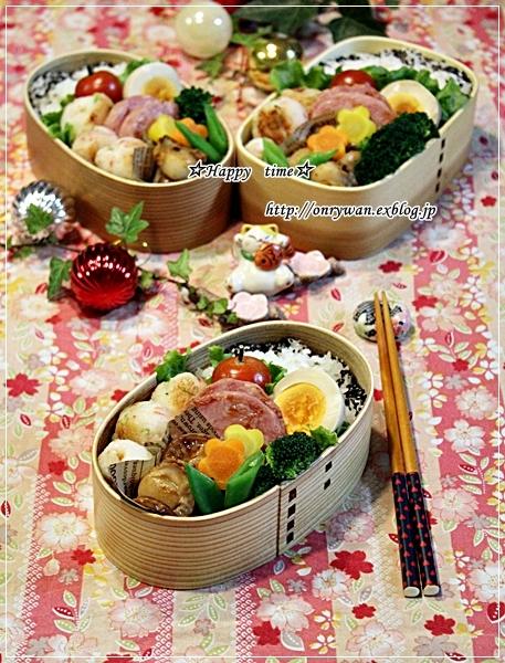 はんぺんカニカマ三つ葉のお団子焼き弁当とおうちごはん♪_f0348032_18175490.jpg