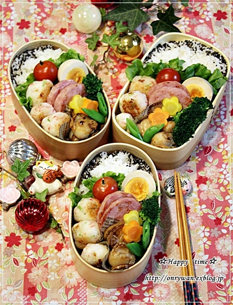 はんぺんカニカマ三つ葉のお団子焼き弁当とおうちごはん♪_f0348032_18180521.jpg