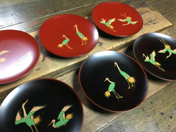 小皿「鶴の舞」_e0130334_10075902.jpg