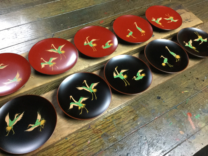 小皿「鶴の舞」_e0130334_10080079.jpg