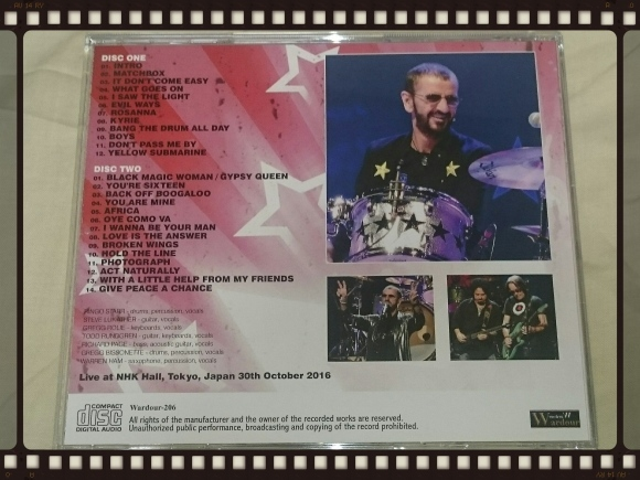 RINGO STARR And His All Starr Band / TOKYO 2016 1ST NIGHT_b0042308_18082106.jpg