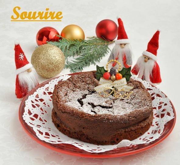 2016年クリスマスケーキ★ガトーショコラでMerry Christmas!_c0350941_13255793.jpg