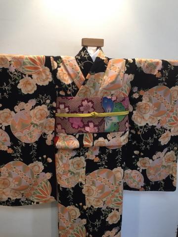 26日より!乙女な古典!黒桜と鞠着物×蝶桜帯♪販売商品18_c0321302_08450259.jpg