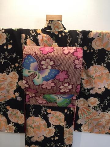 26日より!乙女な古典!黒桜と鞠着物×蝶桜帯♪販売商品18_c0321302_08464519.jpg