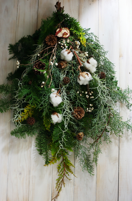 12月定期スクール クリスマスリースなど とお正月アレンジ販売_a0042928_1810697.jpg