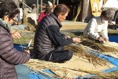 米作り6.お飾りをつくろうB ~輪飾り~ / クリスマス_a0123836_1442525.jpg