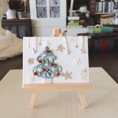 タティングレースのクリスマスツリーと素敵な出会いと。(ハンドメイド・雑貨DIY部門)_f0089355_23244032.jpg