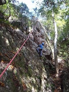 金華山で岩登り_e0064783_22412926.jpg