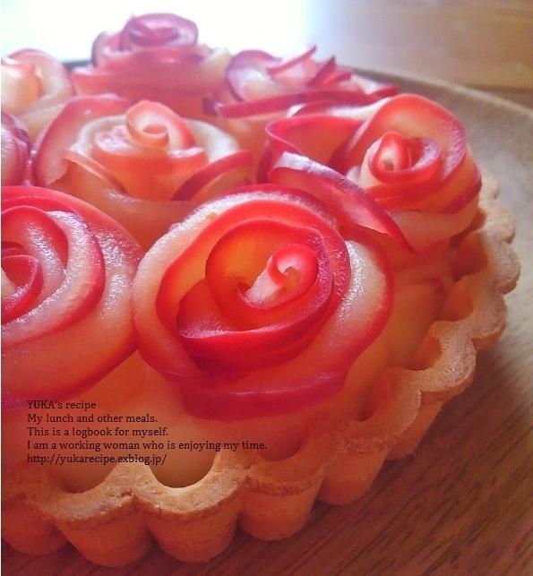 イエシゴトVol.183 簡単レシピの薔薇のタルト&マロンタルト_e0274872_11455644.jpg