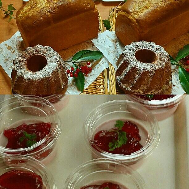 12月26日(月)  バタートップとスパイスハニーケーキ&ブドウのムース_d0138307_22451296.jpg