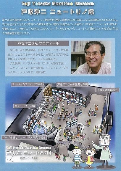 科学への招待窓口 ノーベル賞のこともよくわかる「戸塚洋二ニュートリノ館」オープン_f0141310_626279.jpg