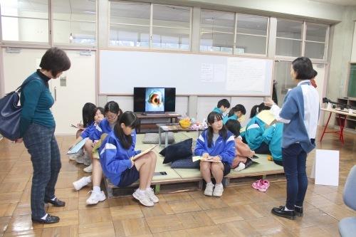 11/19 キッズツアー(守谷中学校美術部のみなさん)@OPEN STUDIOS_a0216706_17113657.jpg