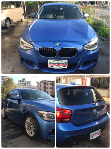 BMW 116i フロントガラスのスクラッチリペア_d0351087_08433399.jpg