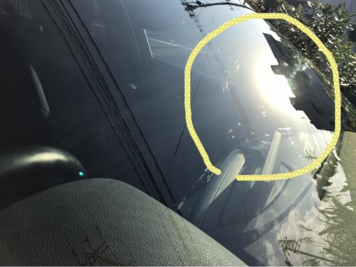 BMW 116i フロントガラスのスクラッチリペア_d0351087_08433414.jpg