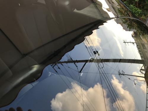 BMW 116i フロントガラスのスクラッチリペア_d0351087_08560337.jpg