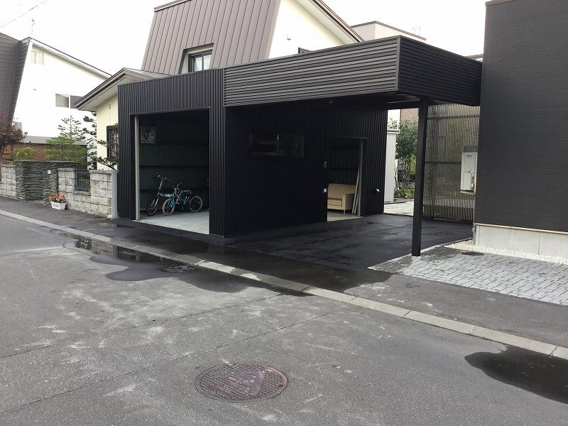 旭川市内 特注ガレージ付カーポート_b0187822_1218177.jpg