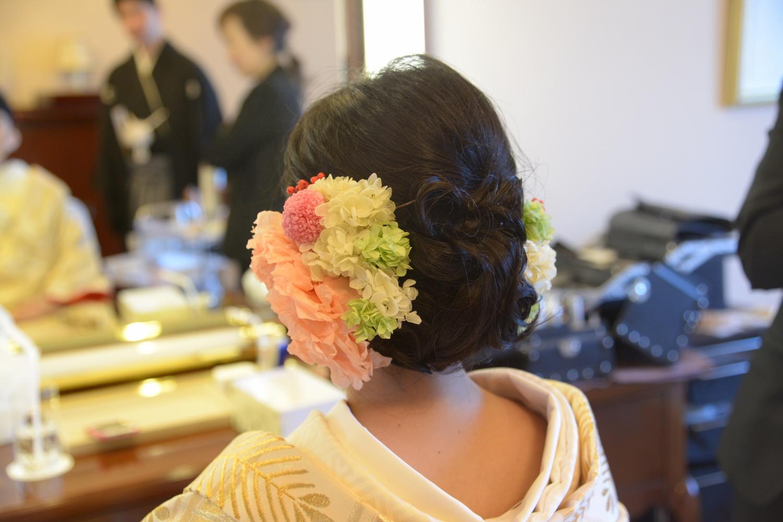 新郎新婦様からのメール 帝国ホテルの花嫁さまより 和装の手まりボールブーケ_a0042928_18395293.jpg