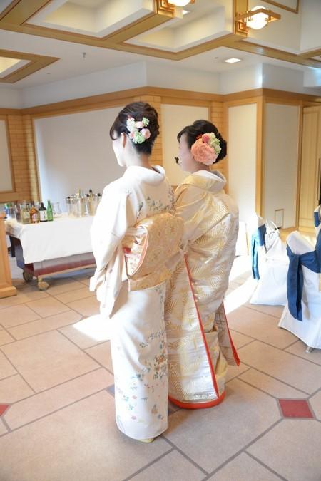 新郎新婦様からのメール 帝国ホテルの花嫁さまより 和装の手まりボールブーケ_a0042928_18575084.jpg