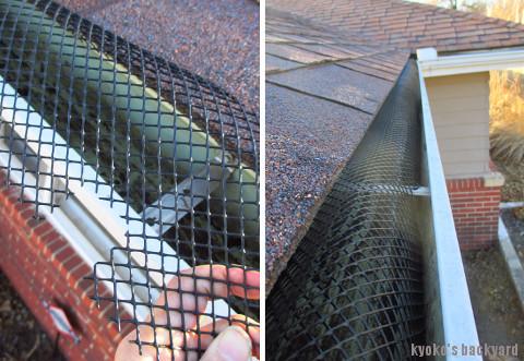 12月恒例の雨樋の掃除と、落ち葉よけネットの取り付け_b0253205_06321646.jpg