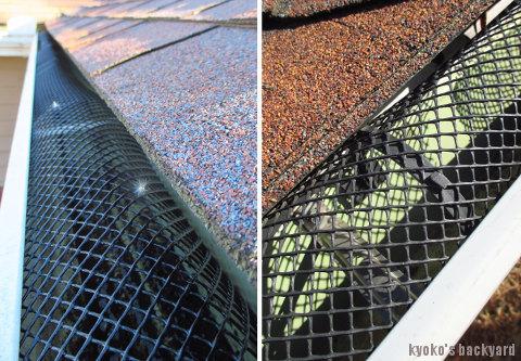 12月恒例の雨樋の掃除と、落ち葉よけネットの取り付け_b0253205_06330195.jpg