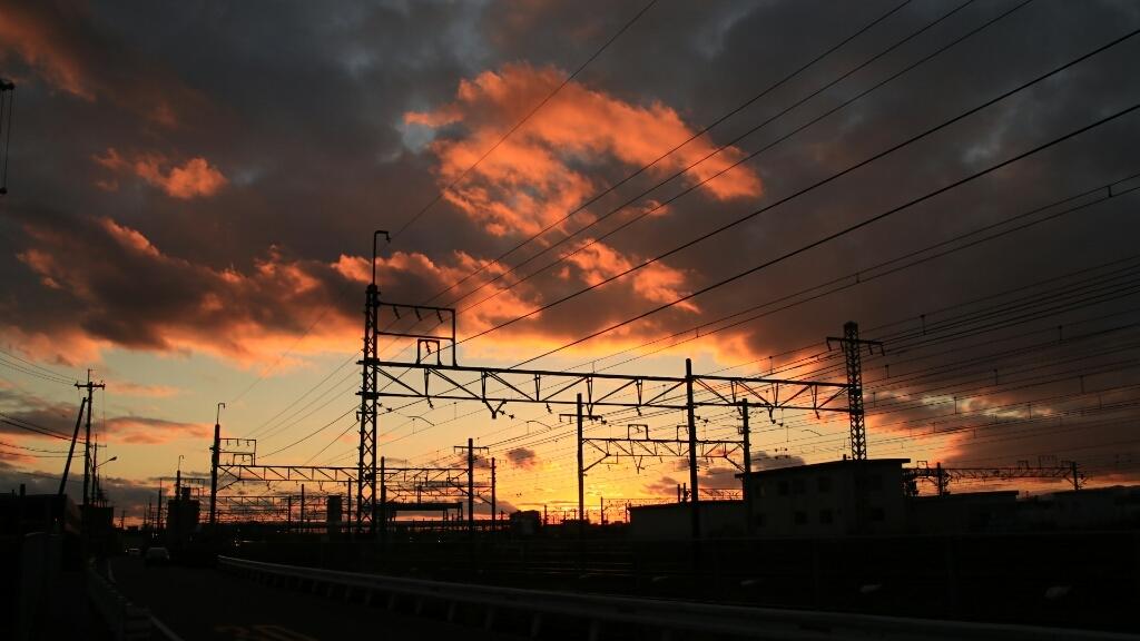 夕方の岸辺駅付近_d0202264_17064570.jpg