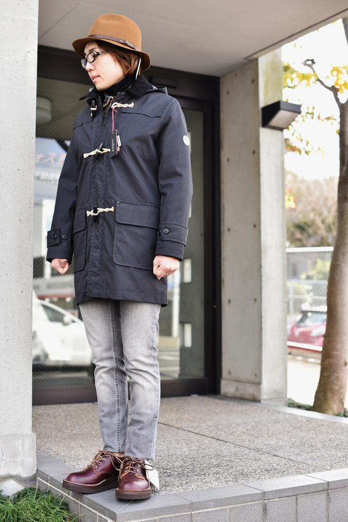 マニアな方へ。。。Gloverall ・・・ OILED CLOTH DUFFLE COAT JACKET!★!_d0152280_1934089.jpg