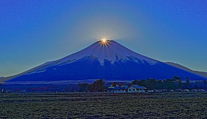 2017年01月01日ダイヤモンド富士を15時33分頃花の都公園で撮影_a0150260_14444345.jpg