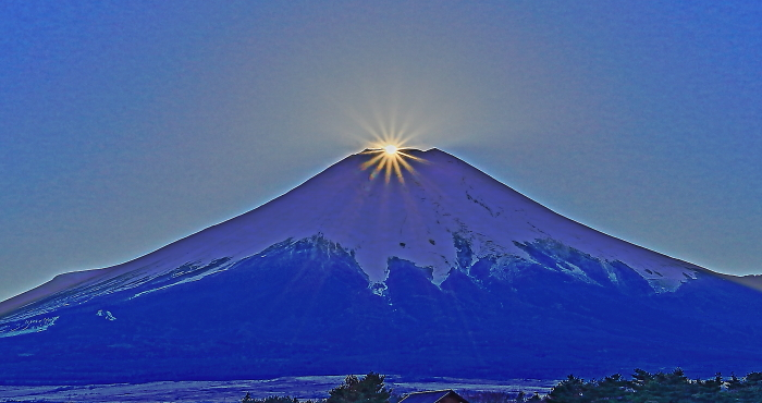 2017年01月01日ダイヤモンド富士を15時33分頃花の都公園で撮影_a0150260_17453620.jpg