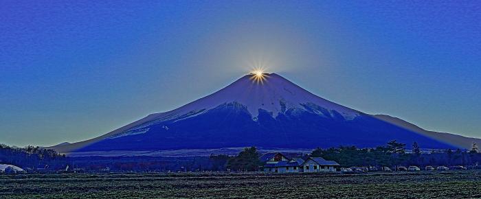 2017年01月01日ダイヤモンド富士を15時33分頃花の都公園で撮影_a0150260_1854649.jpg