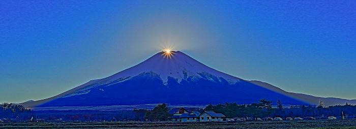 2017年01月01日ダイヤモンド富士を15時33分頃花の都公園で撮影_a0150260_222422.jpg