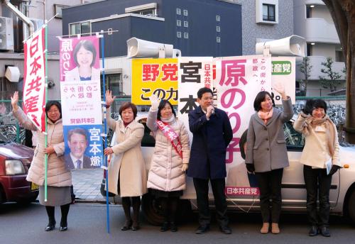 東京・清瀬市で新春の訴え_b0190576_21371183.jpg