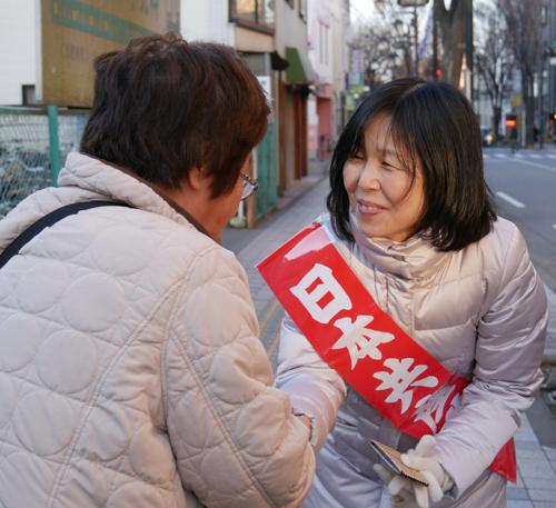 東京・清瀬市で新春の訴え_b0190576_21371680.jpg