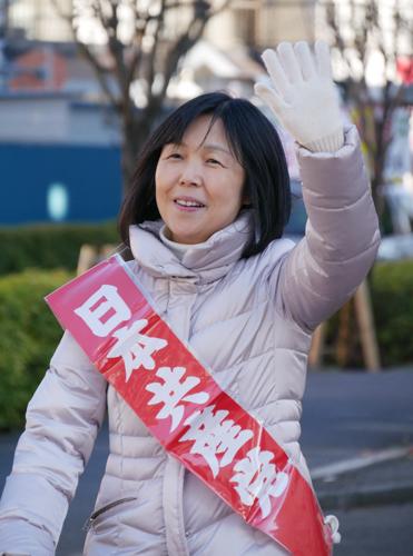 東京・清瀬市で新春の訴え_b0190576_21371935.jpg