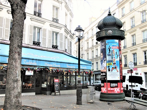 パリの広告塔 : パリの裏通り(...