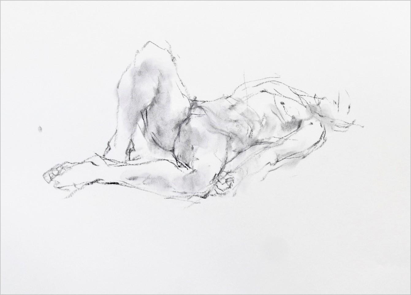 《 素描・・・ 横たわる裸婦 1 》_f0159856_11220898.jpg