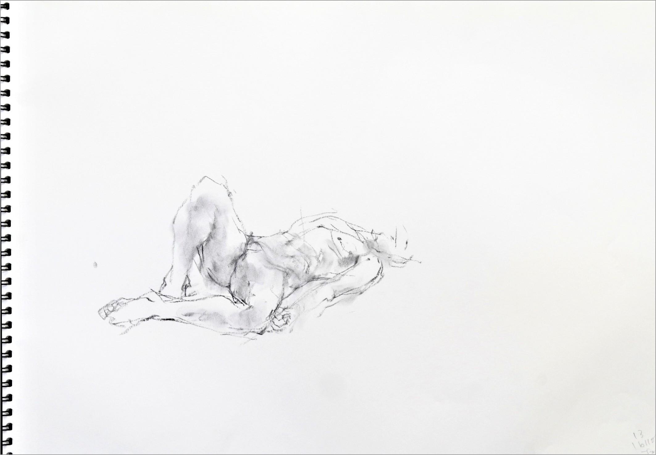 《 素描・・・ 横たわる裸婦 1 》_f0159856_11404914.jpg