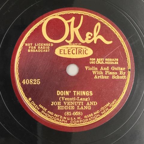 1月 新着レコードのご紹介 ヴェヌーティ&ラングのOkeh盤_a0047010_20403494.jpg