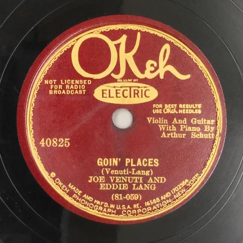 1月 新着レコードのご紹介 ヴェヌーティ&ラングのOkeh盤_a0047010_20403627.jpg