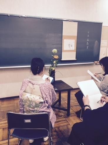 新年の日本画教室。_c0160745_21300940.jpg