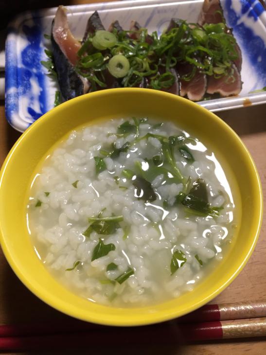 1月7日、七草粥(人\'▽`)♪_f0183846_20404614.jpg