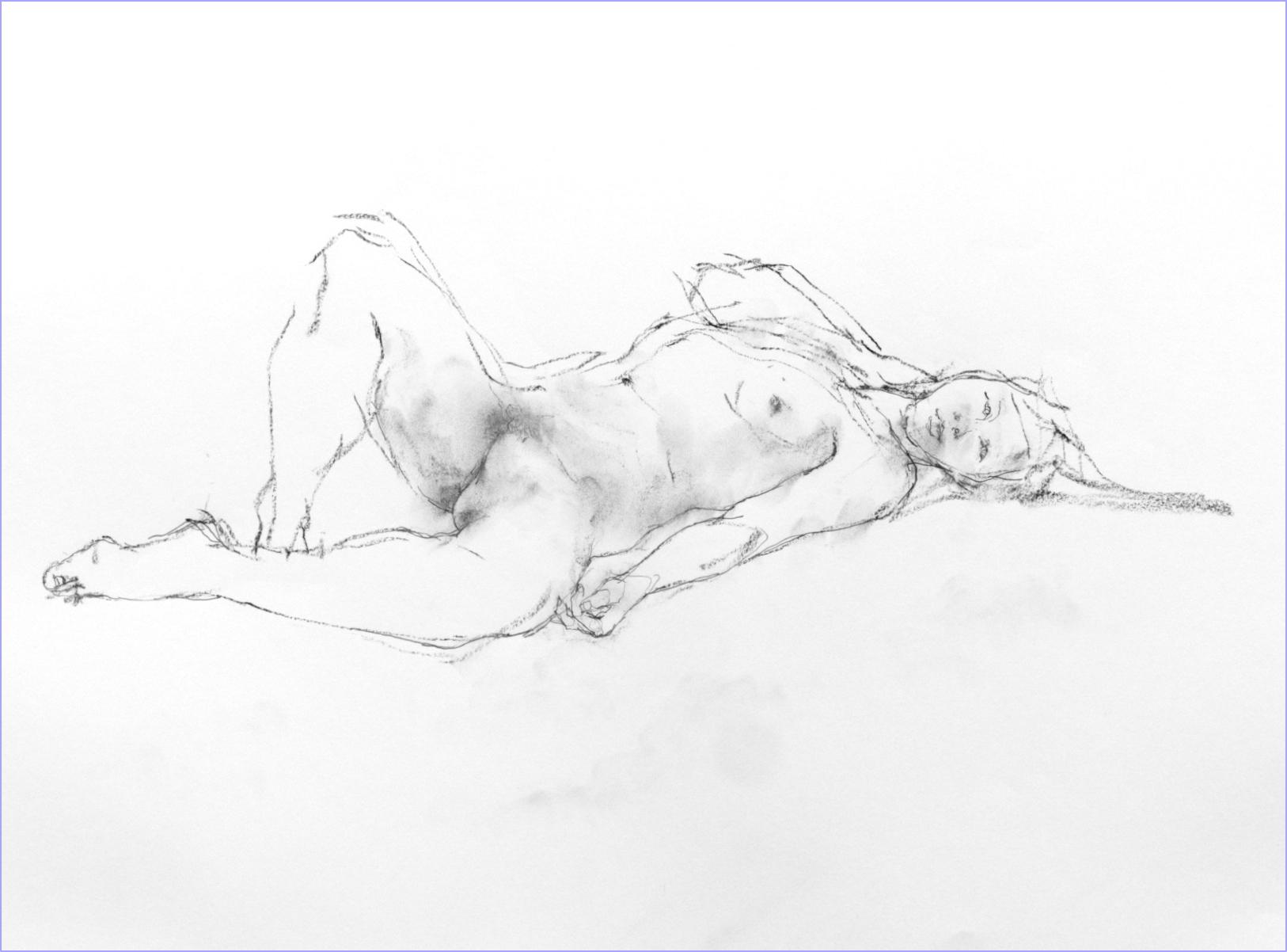 《 素描・・・ 横たわる裸婦 2 》_f0159856_08221191.jpg