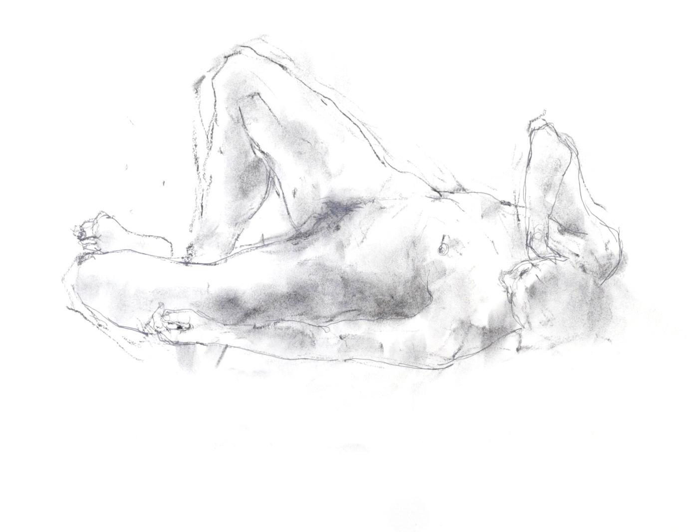 《 素描・・・ 横たわる裸婦 3 》_f0159856_11270309.jpg