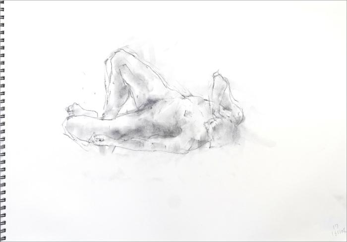 《 素描・・・ 横たわる裸婦 3 》_f0159856_11285804.jpg