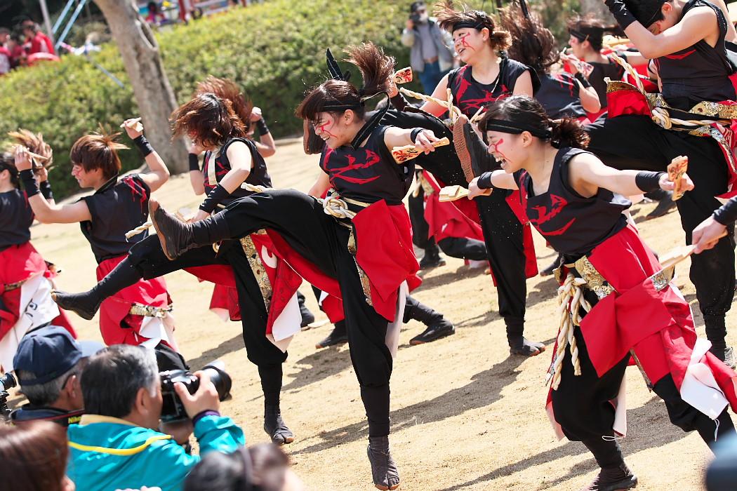 """早稲田大学""""踊り侍"""" @ がんこ祭(浜よさ)2016_c0187584_12312390.jpg"""