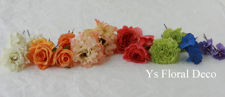 オレンジ色の色打掛に 生花のヘッドドレス_b0113510_14035806.jpg