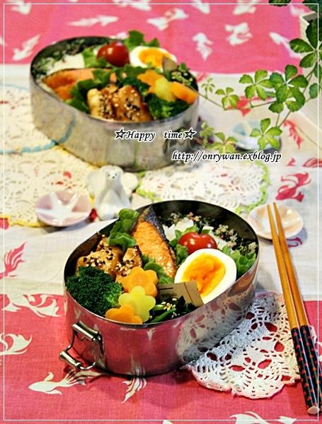 焼き鮭弁当と今週の常備菜♪_f0348032_18024652.jpg