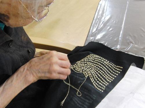 刺繍 ~ 縄のれん文 ~_e0222340_1512692.jpg